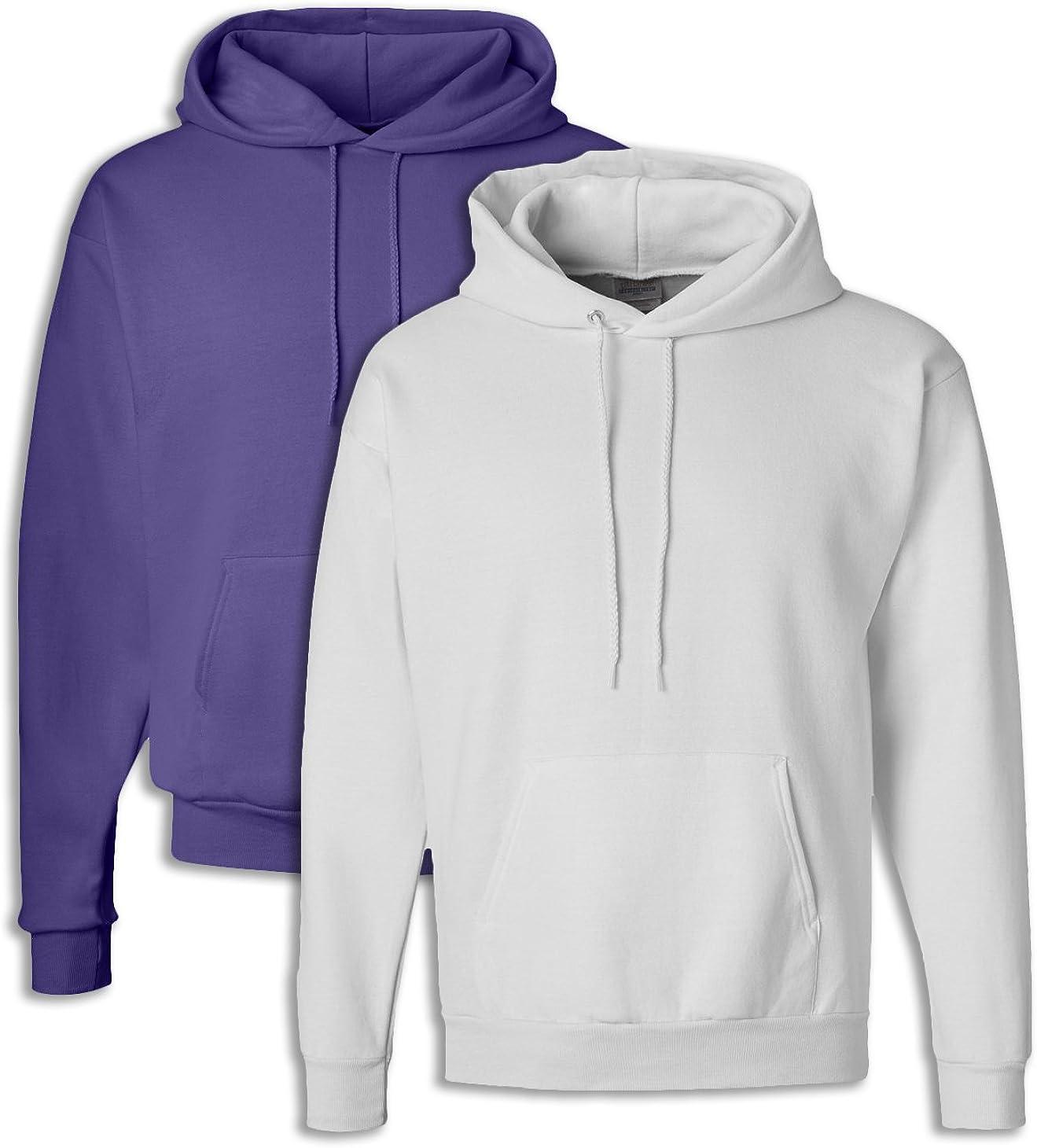Hanes P170 Mens EcoSmart Hooded Sweatshirt XL 1 Safety Green 1 Smoke Grey