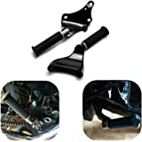 KEMIMOTO Rear Passenger Foot Pegs Foot Rest Pedal Mount Kit for Sportster IRON XL 883 1200 48 72 2014 2015 2016 2017