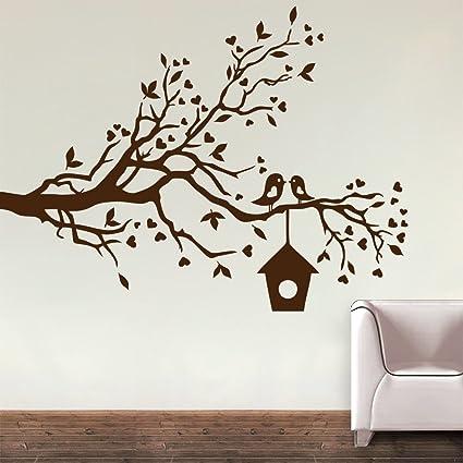 58109289997 Buy Decor Kafe  Loving Sparrows with a Bird House  Wall Sticker (PVC Vinyl  Film