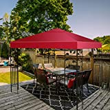 Tangkula 9.8' x 9.8' Canopy Cover Outdoor Patio