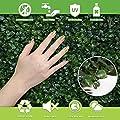 """RANKA Lasting Greenery Artificial Boxwood Panels, 40"""" L X 40"""" W, Dark Green"""