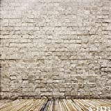 Aodicon 5x7ft No Wrinkles Cotton Cloth Photography Background Brick Wall Birthday Personal Kids Photo Backdrops Props for Studio 1.5x2.2M(Update Material)