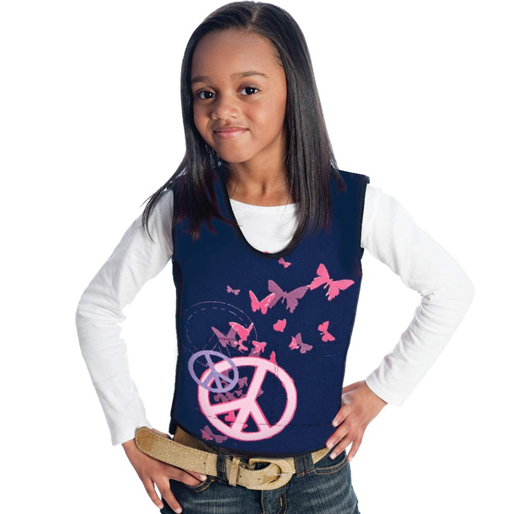 Fun and Function's Peace Graphic Weighted Vest - Helps With Mood & Attention, Sensory Over Responding, Sensory Seeking, Travel Issues