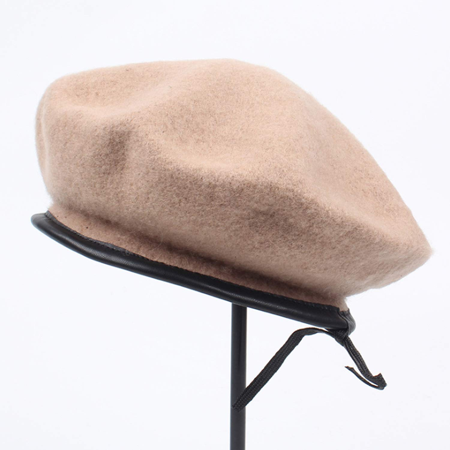 Ruanyi Hat Wool Berret Autumn//Winter Fashion Leather End Painter Hat for Women