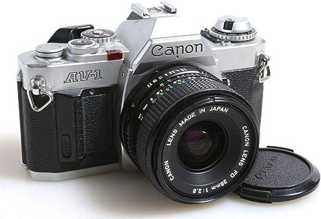 Canon AV-1 W/50 mm Objetivo F 1,8, Gran Manual Estudiante cámara ...