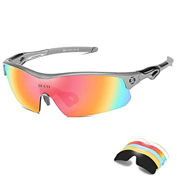 4733a4b2aa Duco polarizadas Gafas de Sol Deportivas Ciclismo Gafas con 5 Lentes  Intercambiables 0025: Amazon.es: Deportes y aire libre