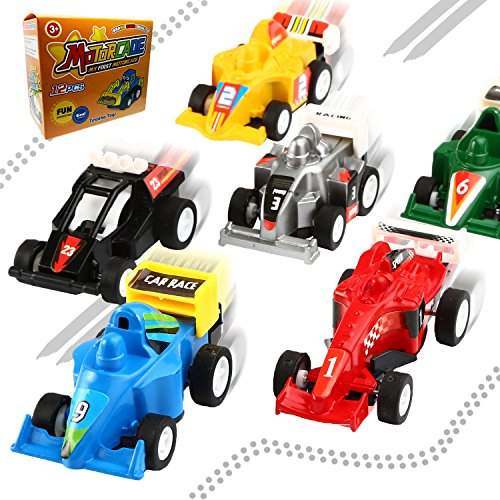 Pull Back Vehicles,12 Pack Assorted Construction Vehicles and Race Car Toy,Yeonha Toys Vehicles Truck Mini Car Toy For Kids Toddlers Boys,Pull Back And Go Car Toy Play Set
