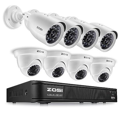 amazon com zosi 720p hd tvi home security camera system full hd 8