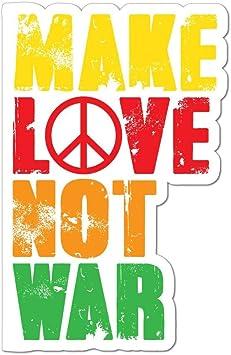 Make Love Not War Car Sticker Decal Hippie Peace Flower Power 80s Auto