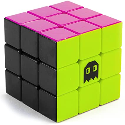 3 x 3 Stickerless Neon 80s Mod Puzzle Cube | Cool Fidget Toy Engineered for  Fun & Speed Solving | Game & Desk Gadget for Adults and Kids | Party