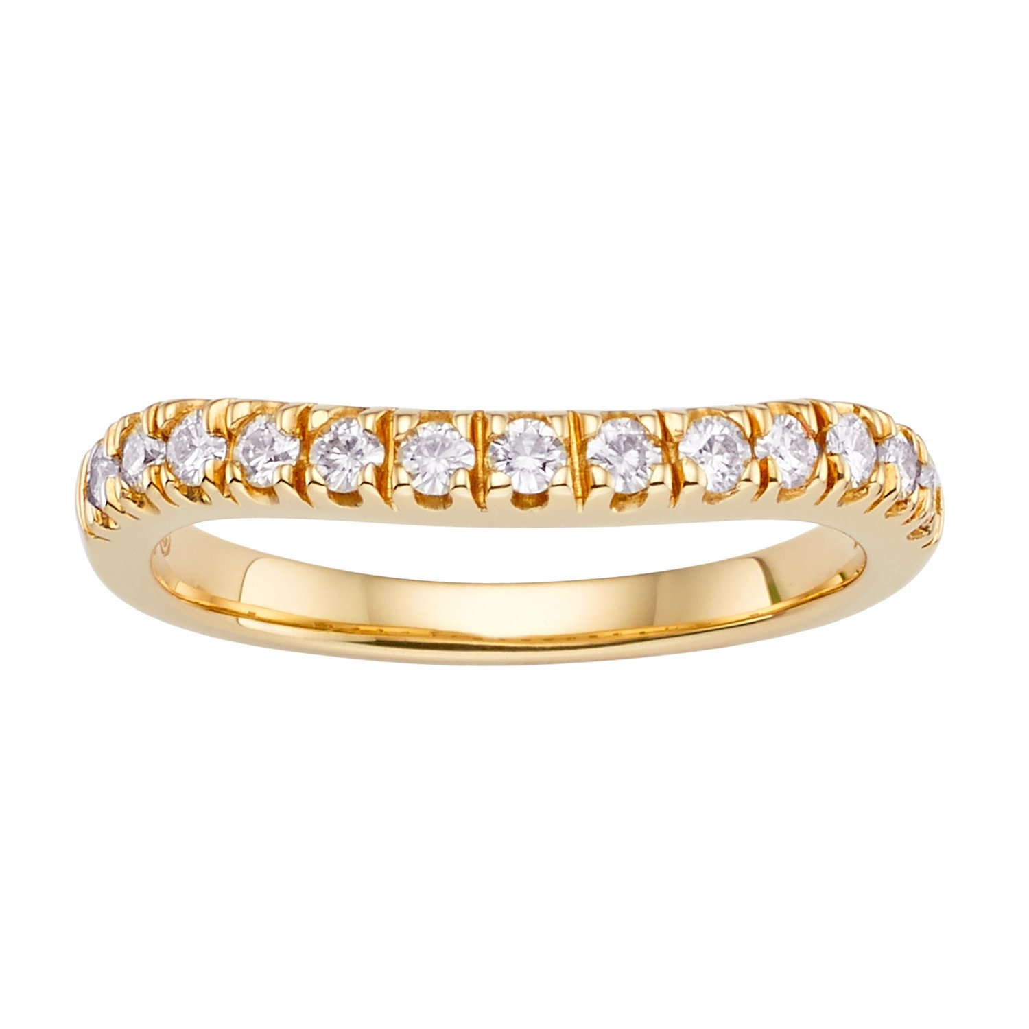 Forever Classic Yellow Gold 1.8mm Moissanite Wedding Band - size 6, 0.33cttw DEW By Charles & Colvard