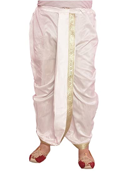 Larwa Mens Silk Solid Dhoti White Free Size Amazonin Clothing