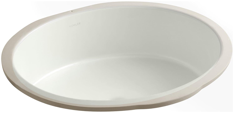 20.88 x 17.88 x 8.44 inches Almond Kohler 2881-47 Vitreous china undermount oval Bathroom Sink