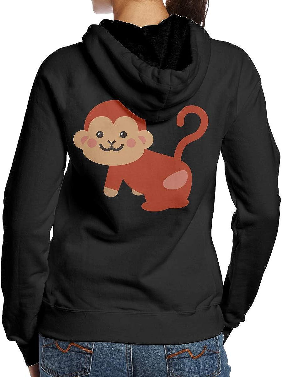 BB/&YYY Monkey Womens Pullover Hoodie Sweatshirt Back Print Hoodies