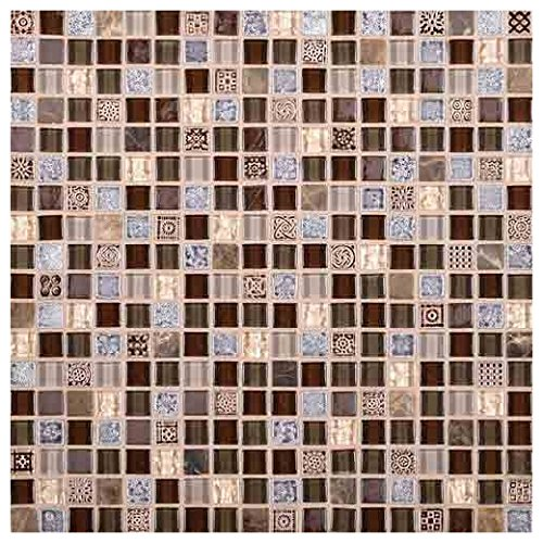 (Marvel Stone and Glass Mosaic Tile Tile Wonder MV28)