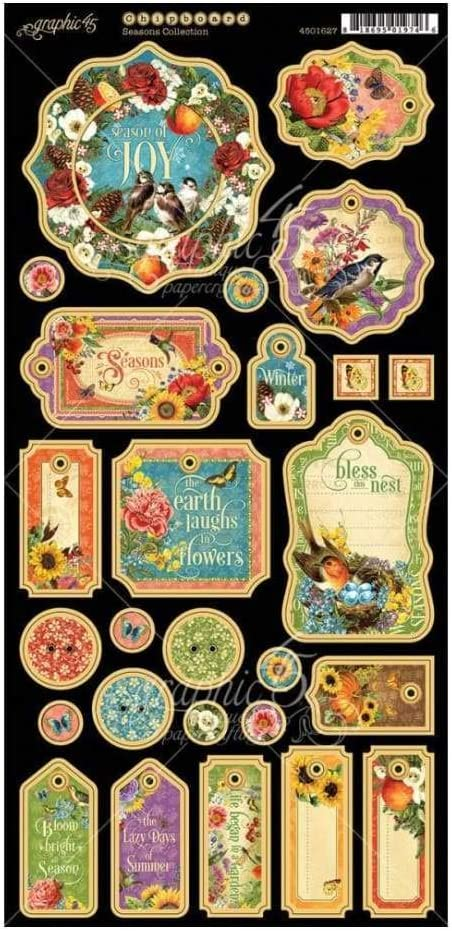 Graphic 45 Master Detective Chipboard Die Cuts
