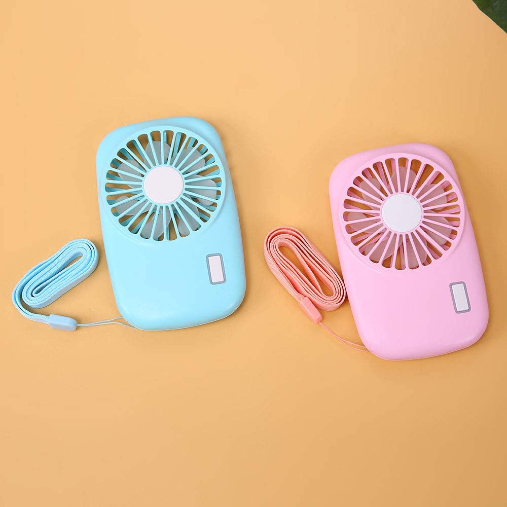 GGMC Portable Mini Hand Held USB Fan Camera Shape Rechargeable Summer Air Conditioner Cooling Fan for Outdoor Travel Mini Fan USB Fan,Blue