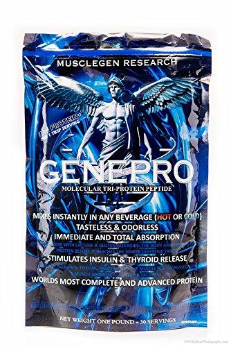 Musclegen recherche génétique Genepro Tri-Peptide Protein Powder - Poids net 453,5 grammes - 30 Portions