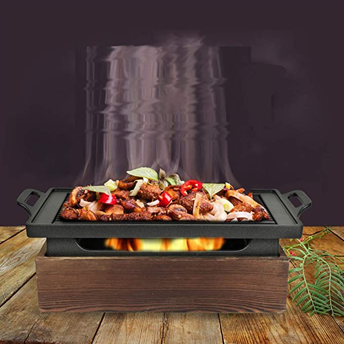 Amazon.com: NOMADOEM] Juego de mini Hibachi rectangular de ...