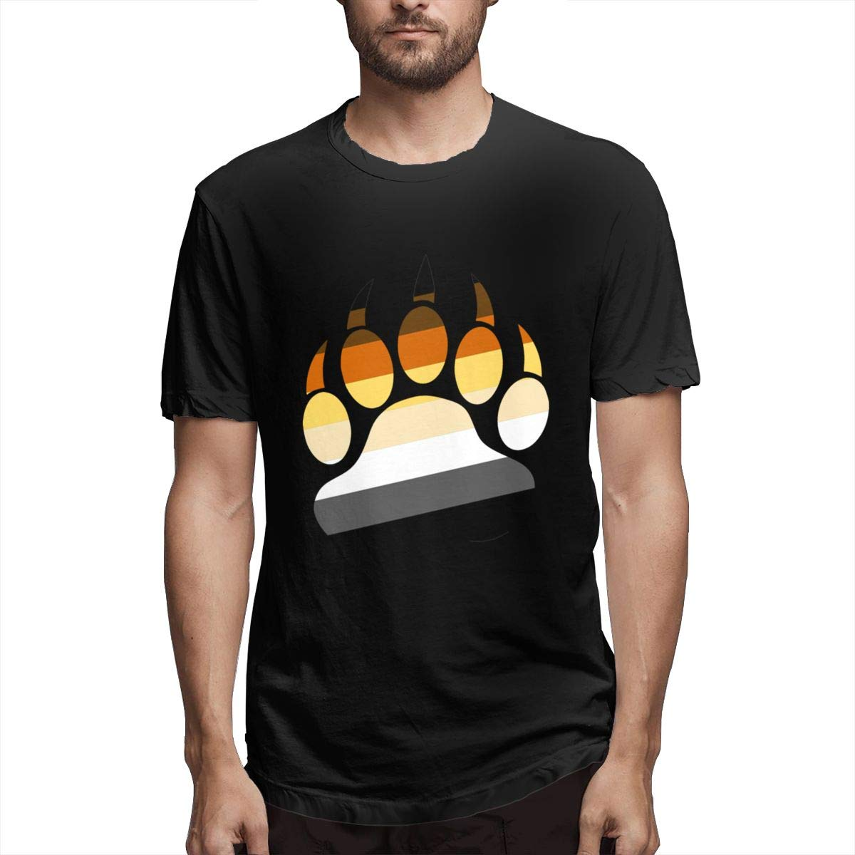 HIPGCC Mens Classic Gay Bear Pride Paw Shirt