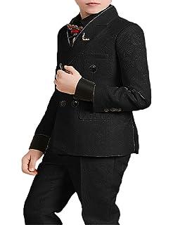 157d8d1067822 DGMJ Wedding Suits for Boys Slim Fit Fashion 3 Piece Boy Formal Dresswear  Set for Birthday
