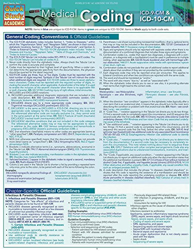 Medical Coding: ICD-9 & ICD-10-CM: Quick Study Guide (Quick Study Academic)