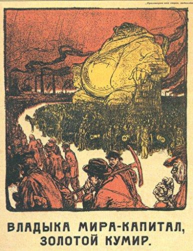 Anti Capitalism Soviet Union Vintage Style Propaganda Poster 12x18 (Communist Propaganda Poster)