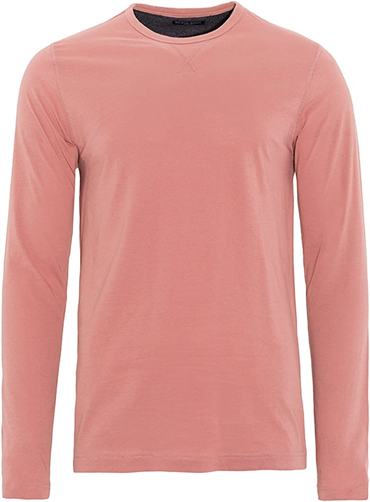 Brave Soul - Camiseta de manga larga - Básico - Clásico - Manga Larga - para hombre rosa rosa S: Amazon.es: Ropa y accesorios
