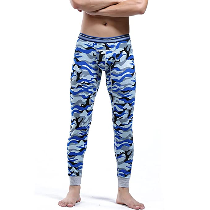 hibote Johns largo para hombre, ropa interior térmica Pantalones de camuflaje, para hombre caliente
