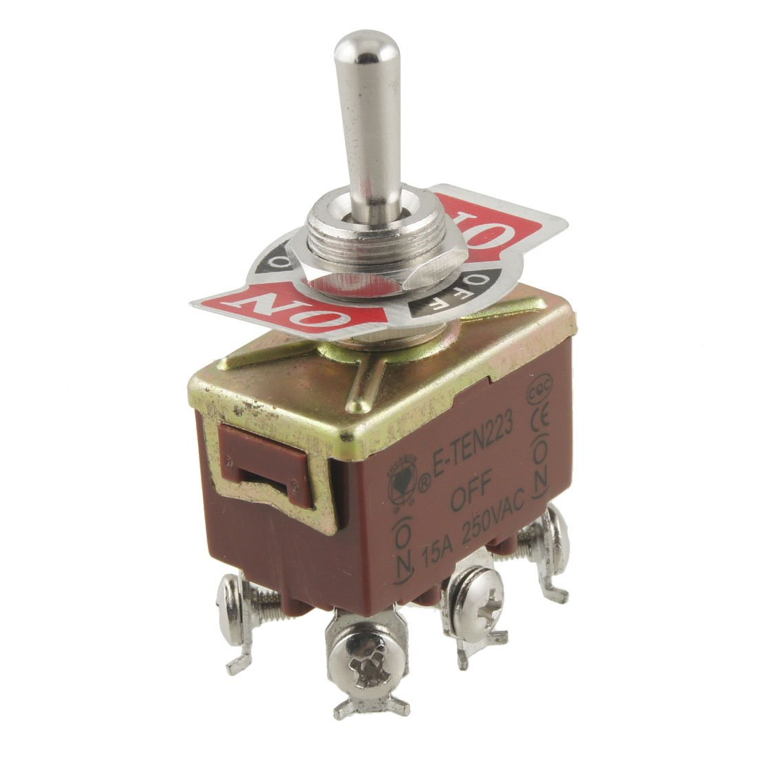 dpdt on/off/on 3 position 6 screw terminals momentary toggle switch ac 250v  15a: amazon co uk: business, industry & science