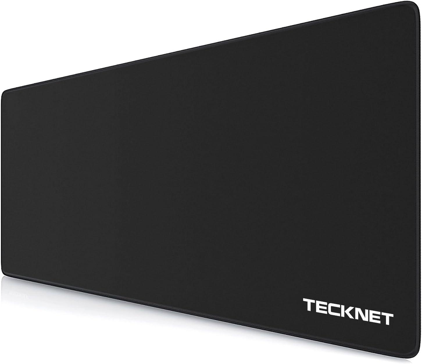 TECKNET XXL Alfombrilla de Ratón - Gaming Mousepad 900x450x4mm, Base de Goma Antideslizante, Superfície con Textura Especial, Compatible con ratón láser y óptico