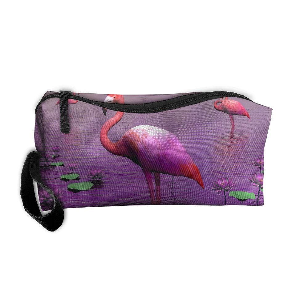 a61bee2d4b67 Purple River Pink Flamingos Pattern Makeup Bag Printing Girl Women ...