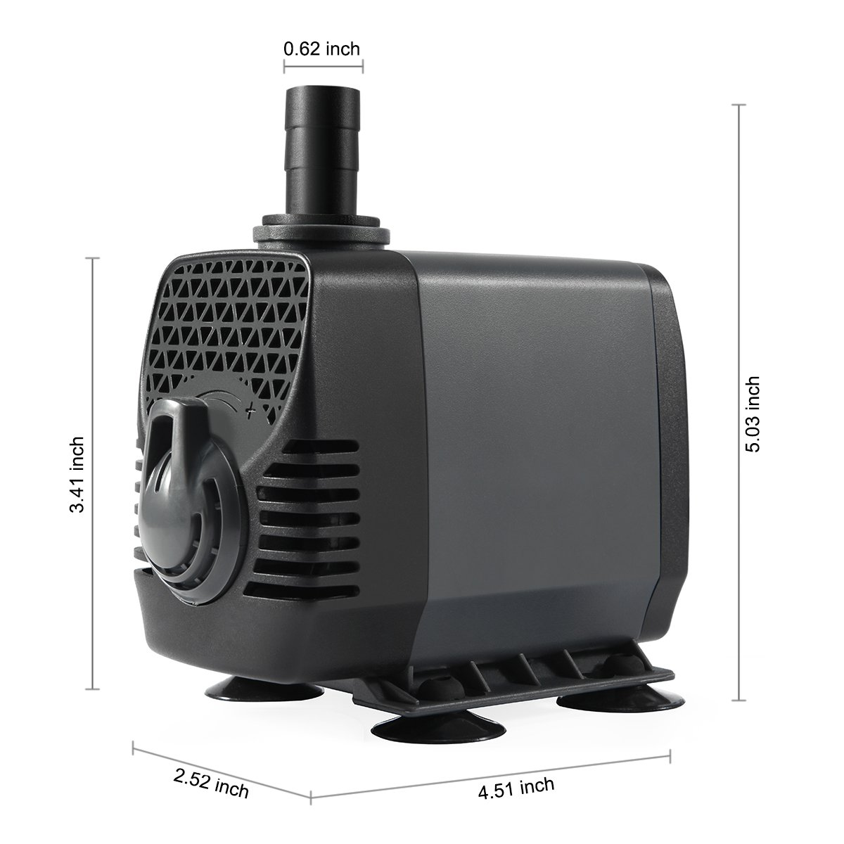 Ankway Upgraded 660GPH(2475L/H, 40W) Submersible Water Pump Humanized Rotation Switch with 3 Nozzles for Pond, Aquarium, Fish Tank Fountain Water Pump Hydroponics, with 5.9ft (1.8M) Power Cord by Ankway (Image #4)