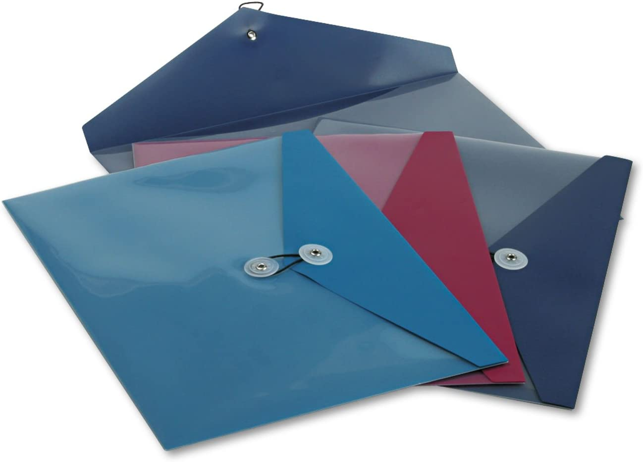 4//Pack 3 Colors Side Opening Pendaflex 90016 Poly Booklet Envelope 12 1//2 x 9 1//4