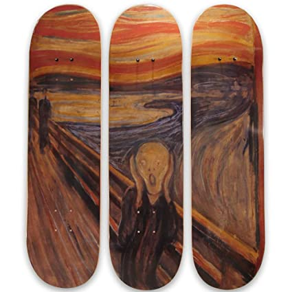 Amazon.com: Musart Limited Edition - Edvard Munch Skateboard ...