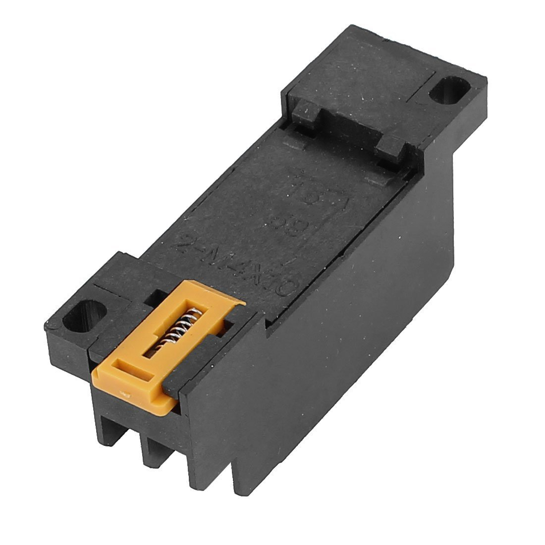 uxcell 2-M4X10 8 Terminal 35mm DIN Rail Mounted Power Relay Socket Base