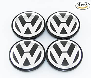 Lcypol Tapacubos para Volkswagen Golf GTI PASSATJETTA 3B7601171 3B7 601 171 (4 Unidades, 65
