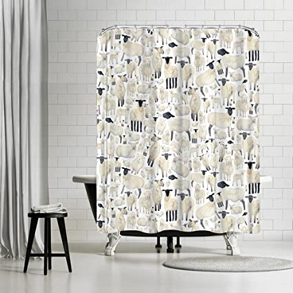 Image Unavailable Not Available For Color Americanflat Sheep Shower Curtain