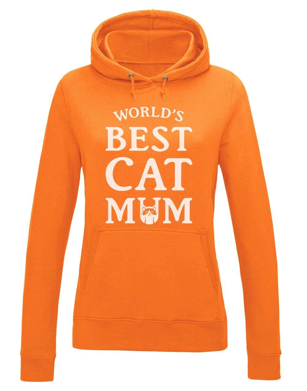 Sudadera con Capucha para Mujer - -World'S Best Cat Mum- Regalo Original para Las Amantes de los Gatos en el día de la Madre a404826dhw_ies