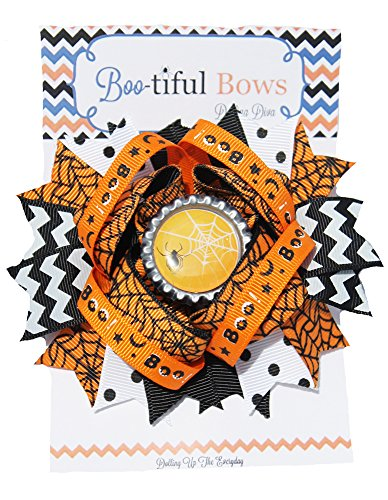 Bootiful Halloween Hair Bows- Boutique Halloween Hair Bow (Sweet Spider)