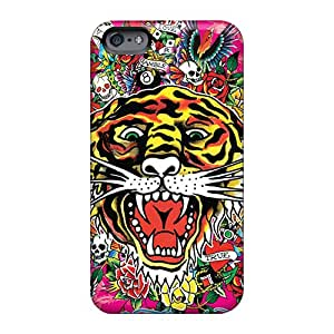 Scratch Resistant Hard Phone Cases For Apple Iphone 6 With Customized HD Ed Hardy Tiger Series TimeaJoyce