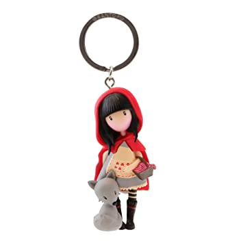Gorjuss- Llavero muñeca Little Red Riding Hood, Color Rojo (82076619830)