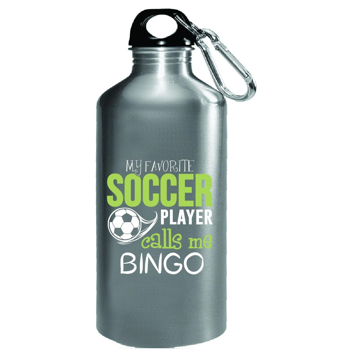 My Favorite Soccer Player Calls Me Bingo - Water Bottle by My Family Tee