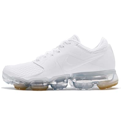 sports shoes f1d08 9b363 Nike WMNS Air Vapormax Chaussures de Running Compétition Femme, Multicolore  White Metallic Silver