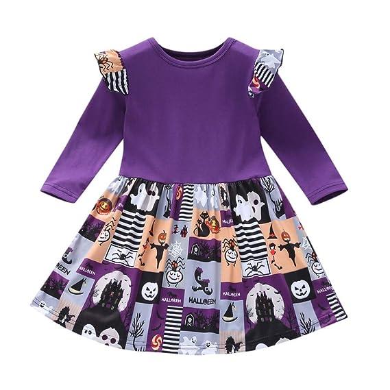 Baiomawzh Disfraz de Halloween Ropa Bebe Niña Vestido de Princesa ...