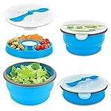 Smart Planet Eco Collapsible Salad Bowl, 64 oz, Blue