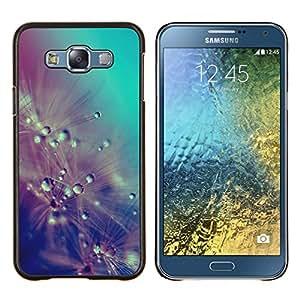 Stuss Case / Funda Carcasa protectora - Gotas de lluvia Flores del trullo en colores pastel - Samsung Galaxy E7 E700
