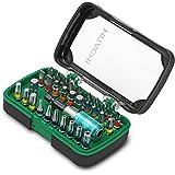 Hitachi Box Inserti da 32 Pezzi Kit Articoli per Avvitare, Verde/Nero, Set di 32