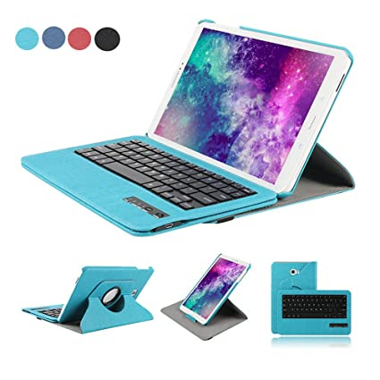 Funda Tablet para Samsung Galaxy Tab A 10.1, Dingrich Funda Teclado Bluetooth Inalámbrico Removible para Tab A T580/T585