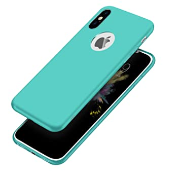coque iphone xr silicone menthe